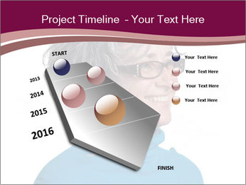 Woman smiling PowerPoint Templates - Slide 26