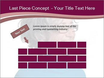 Woman smiling PowerPoint Templates - Slide 46