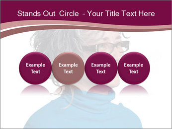 Woman smiling PowerPoint Template - Slide 76