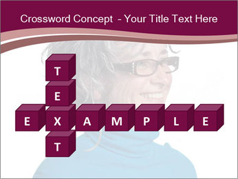 Woman smiling PowerPoint Templates - Slide 82