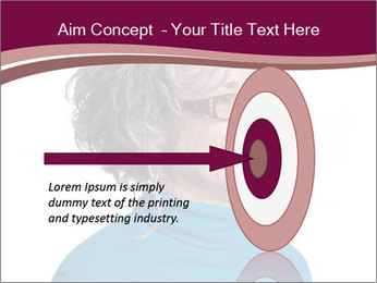 Woman smiling PowerPoint Template - Slide 83