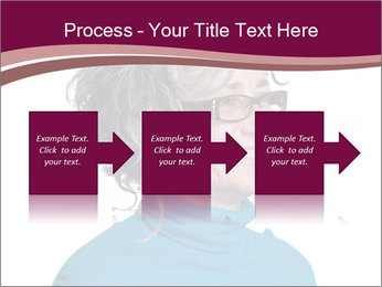 Woman smiling PowerPoint Template - Slide 88