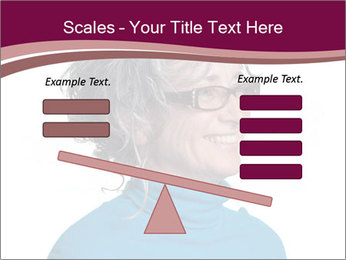Woman smiling PowerPoint Template - Slide 89