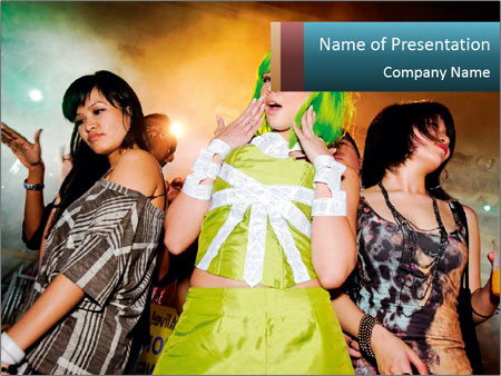 Dancing street party PowerPoint Templates