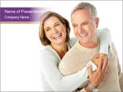 Happy senior couple PowerPoint Template