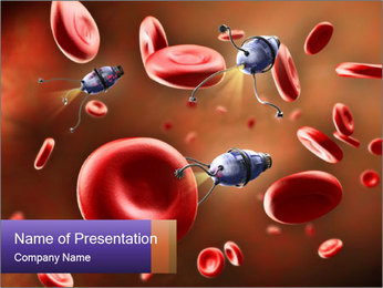 Bloodstream Digital illustration PowerPoint Template