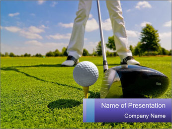Golf Competition PowerPoint Template