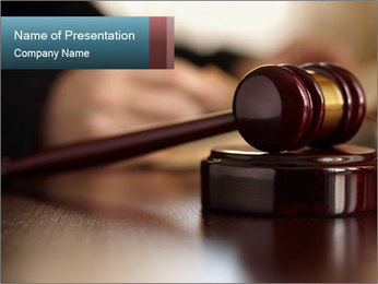 Legal Punishment PowerPoint Template - Slide 1