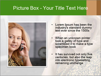 Senior Woman With Mobile Phone PowerPoint Template - Slide 13