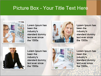 Senior Woman With Mobile Phone PowerPoint Template - Slide 14