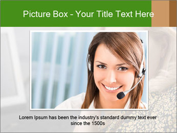 Senior Woman With Mobile Phone PowerPoint Template - Slide 15