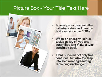 Senior Woman With Mobile Phone PowerPoint Template - Slide 17