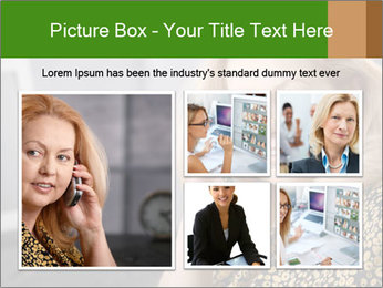 Senior Woman With Mobile Phone PowerPoint Template - Slide 19