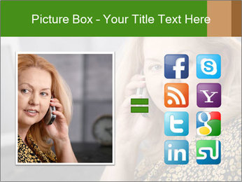 Senior Woman With Mobile Phone PowerPoint Template - Slide 21