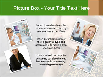 Senior Woman With Mobile Phone PowerPoint Template - Slide 24