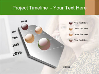 Senior Woman With Mobile Phone PowerPoint Template - Slide 26