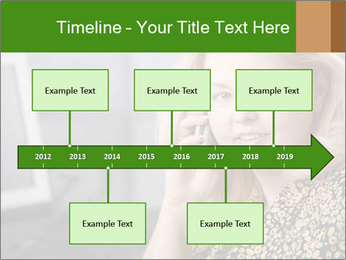 Senior Woman With Mobile Phone PowerPoint Template - Slide 28