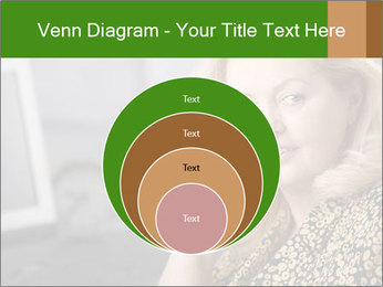 Senior Woman With Mobile Phone PowerPoint Template - Slide 34