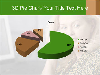 Senior Woman With Mobile Phone PowerPoint Template - Slide 35