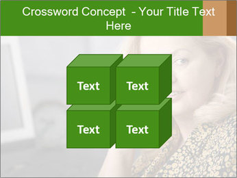 Senior Woman With Mobile Phone PowerPoint Template - Slide 39