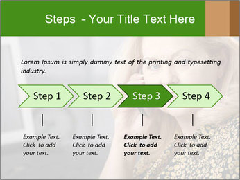 Senior Woman With Mobile Phone PowerPoint Template - Slide 4