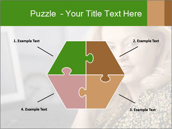 Senior Woman With Mobile Phone PowerPoint Template - Slide 40