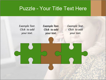 Senior Woman With Mobile Phone PowerPoint Template - Slide 42