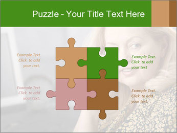 Senior Woman With Mobile Phone PowerPoint Template - Slide 43