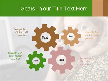 Senior Woman With Mobile Phone PowerPoint Template - Slide 47