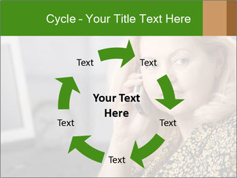 Senior Woman With Mobile Phone PowerPoint Template - Slide 62