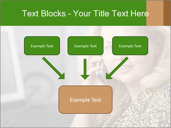 Senior Woman With Mobile Phone PowerPoint Template - Slide 70