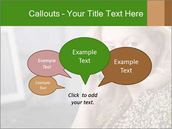 Senior Woman With Mobile Phone PowerPoint Template - Slide 73