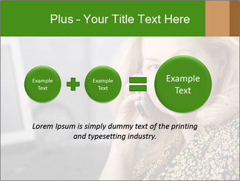 Senior Woman With Mobile Phone PowerPoint Template - Slide 75