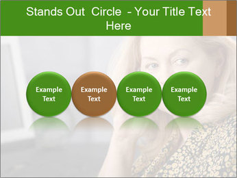 Senior Woman With Mobile Phone PowerPoint Template - Slide 76