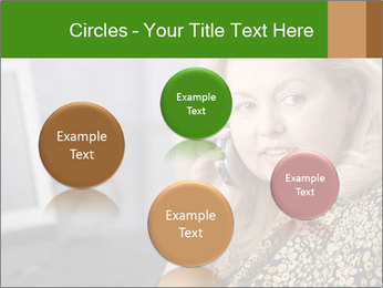 Senior Woman With Mobile Phone PowerPoint Template - Slide 77