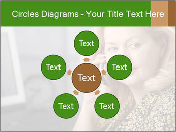 Senior Woman With Mobile Phone PowerPoint Template - Slide 78