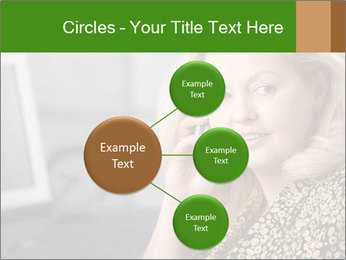 Senior Woman With Mobile Phone PowerPoint Template - Slide 79