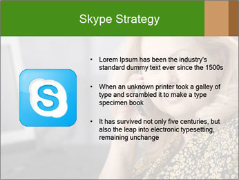 Senior Woman With Mobile Phone PowerPoint Template - Slide 8