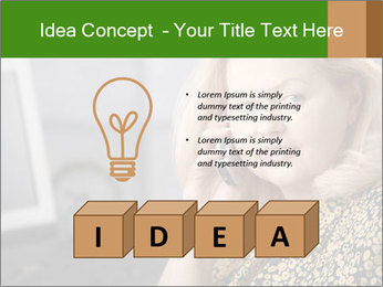 Senior Woman With Mobile Phone PowerPoint Template - Slide 80