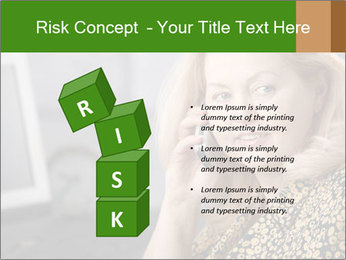 Senior Woman With Mobile Phone PowerPoint Template - Slide 81