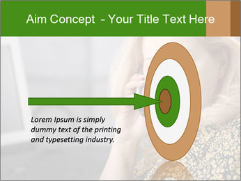 Senior Woman With Mobile Phone PowerPoint Template - Slide 83