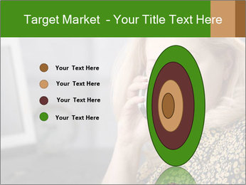 Senior Woman With Mobile Phone PowerPoint Template - Slide 84