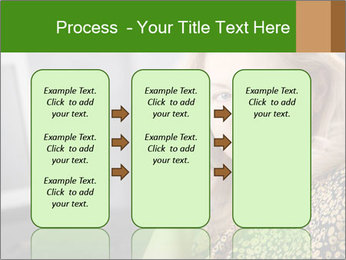 Senior Woman With Mobile Phone PowerPoint Template - Slide 86