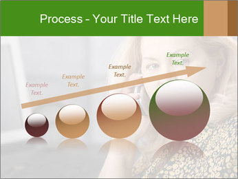 Senior Woman With Mobile Phone PowerPoint Template - Slide 87