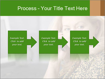 Senior Woman With Mobile Phone PowerPoint Template - Slide 88