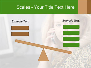 Senior Woman With Mobile Phone PowerPoint Template - Slide 89