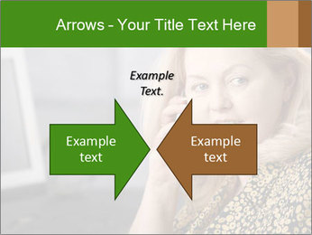 Senior Woman With Mobile Phone PowerPoint Template - Slide 90