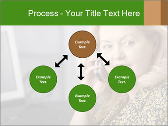 Senior Woman With Mobile Phone PowerPoint Template - Slide 91