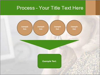 Senior Woman With Mobile Phone PowerPoint Template - Slide 93