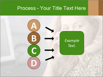 Senior Woman With Mobile Phone PowerPoint Template - Slide 94